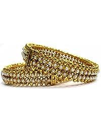 Shingar Jewellery Ksvk Jewels Antique Gold Plated Bangles Set For Women (5941-m-P)
