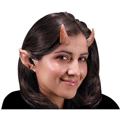 [GSG Pointy Ears Prosthetic Devil Elf Satyr Halloween Dress Costume Accessory] (Satyr Halloween Costumes)