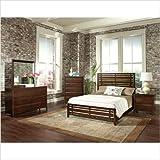 Drake Espresso Panel Bedroom Set Size: King