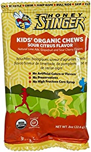 Honey Stinger Kid's Organic Chews, Mixed Berry, 0.8 Ounce (Pack of 5)