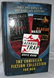 img - for The Christian Fiction Collection for Men (THR3E : PLAGUE MAKER : THE LAZARUS TRAP) book / textbook / text book