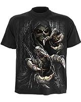 SPIRAL - T-Shirt Mec Spiral DARK WEAR - Death Claws - Noir
