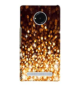 Omnam Crystal Fire Works Galaxy Look Cover for Micromax Yunique