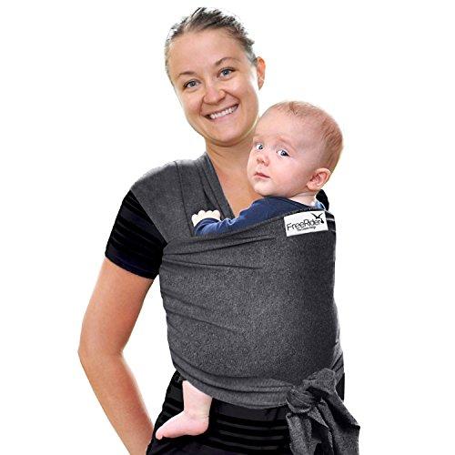 * FLASH SALE * Freerider Premium Baby Sling Carrier per neonati, conforme agli Standard europei | leggero traspirante e morbido cotone spandex neonati bambini e neonati | Baby Shower Regalo Ideale