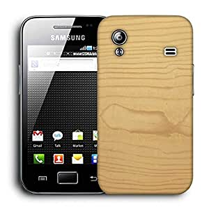 Snoogg Textura De Madera Printed Protective Phone Back Case Cover For Samsung Galaxy ACE S5830