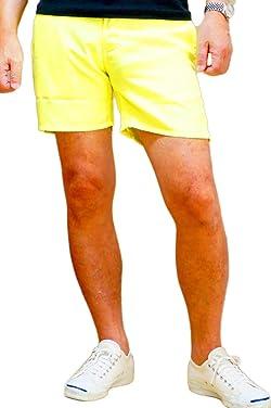 REAL MASTERS ショートパンツ メンズ 蛍光色 ネオンカラー ハーフパンツ 短パン ショート丈 3色タイプ リゾート