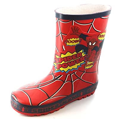 Spiderman Boys Yikes Thick Rubber Welly