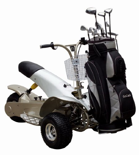 Golf Cruiser Single Rider Electric Golf Cart GC-1 By Greentecscooters 1000 Watt 50 Mile Range Tricycle Style