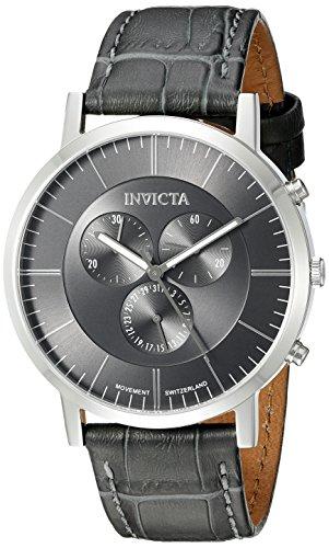 Invicta Men's 19862 Slim Analog Display Swiss Quartz Grey Watch