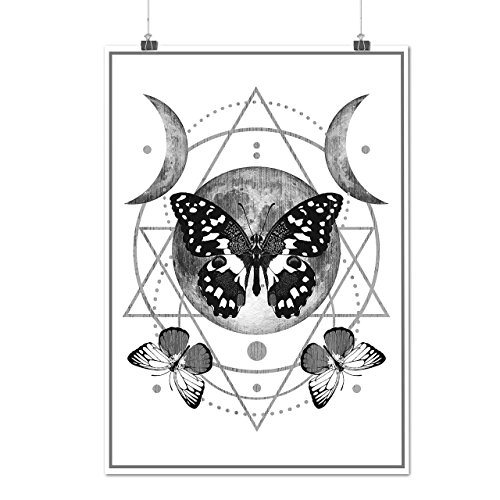 Moon-Cycle-Butterfly-Midnight-MatteGlossy-Poster-A0-A1-A2-A3-A4-Wellcoda