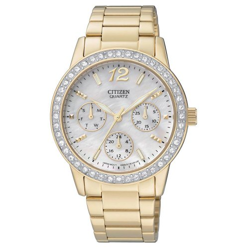 Citizen Quartz Over Sized 35Mm Swarovski Crystal Women'S Watch - Ed8092-58D