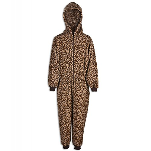 Camille Childrens Unisex Caramel Leopard All In One Pyjama Onesie