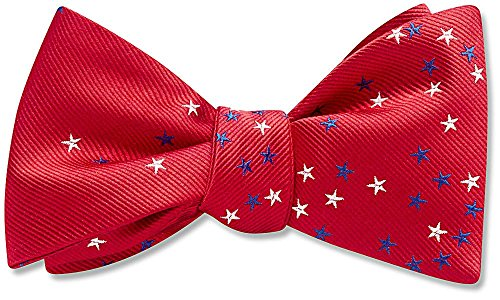 Circumstance Red Patterned, Men's Bow Tie, by Beau Ties Ltd of Vermont