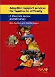 img - for Adoption Support Services for Families in Difficulty: A Literature Review and UK Survey book / textbook / text book