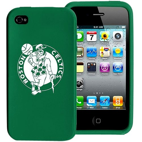 Tribeca Gear FVA3984 Silicone Varsity Jacket for iPhone 4 - Boston Celtics - 1 Pack - Retail Packaging - Green at Amazon.com