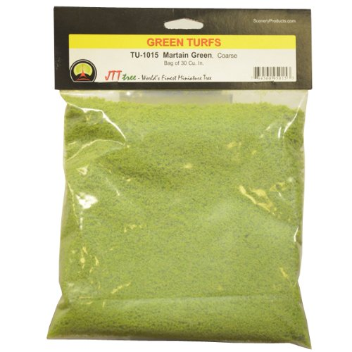 JTT Scenery Products Green Turf, Martian Green, Coarse/30 Cubic Inch