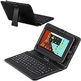 Navitech housse étui avec clavier français AZERTY intégral pour tablettes Android à 7 pouces, MICRO USB