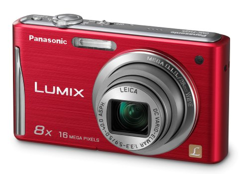 Panasonic DMC-FH25R 16.1MP Digital Camera with 8x Wide Angle Image Stabilized Zoom and 2.7 inch LCD (Red)