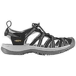 Keen Whisper Sandals Black/Neutral Gray Womens Sz 7.5