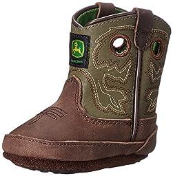 John Deere JD0336 Pull On Crib Boot (Infant), Saddle Tan, 3 M US Infant