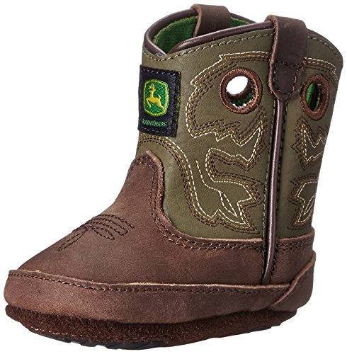 John Deere JD0336 Pull-On Boot (Infant/Toddler), Saddle Tan, 0 D US Infant