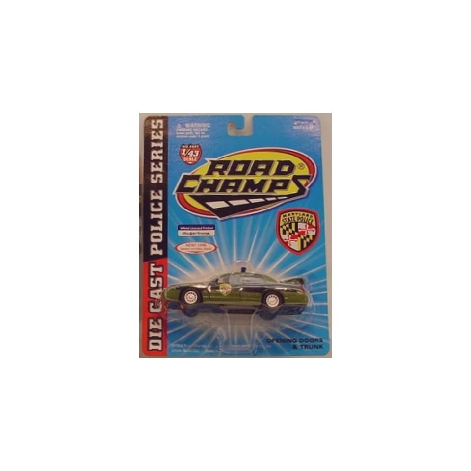 MARYLAND STATE POLICE Road Champs 1998 Ford Crown Victoria Police Series Die Cast Car 143 Scale