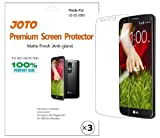 JOTO Premium Screen Protector Film Anti Glare, Anti Fingerprint (Matte Finish) for LG G2 (LG Optimus G2) D802 Smartphone with Lifetime Replacement Warranty (3 Pack)