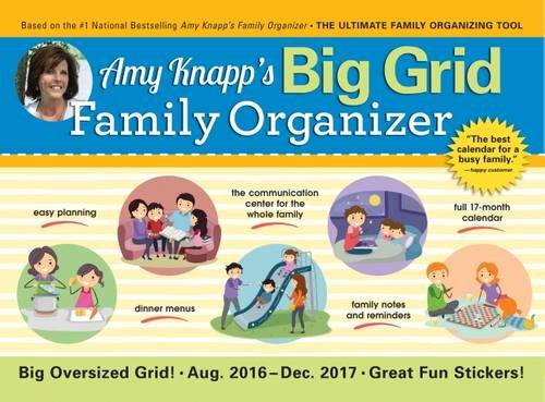 2017 Amy Knapp Big Grid Wall Calendar: The essential organization and communication tool for the entire family (Big Family compare prices)