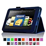 "Fintie (Navy Blue) Slim Fit Leather Case Cover Auto Sleep/Wake for Kindle Fire HD 8.9"" Inch Tablet- 8 colors options"