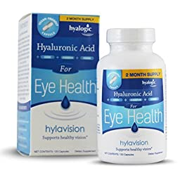 Hyalogic HylaVision - Supports Healthy Vision With Hyaluronic Acid - Lutein - Zeaxanthin - Bilberry Extract - Vitamin A, C, & E - Zinc- All Natural HA - 120 Capsules (FFP)