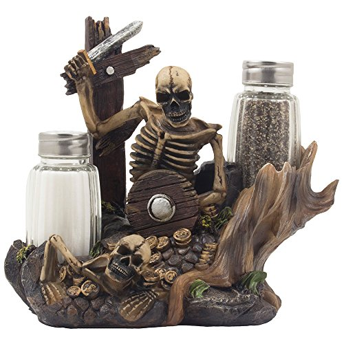 skeleton-pirate-guarding-gold-treasure-salt-and-pepper-shaker-set-and-decorative-figurine-display-st