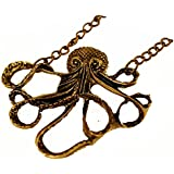 HOT Vintage Bronze Cute Octopus Long Chain Necklace Pendant Charm Jewelry