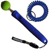 Dogsline Target Stick mit keyfix Spiralarmband für Erziehung Ausbildung und Training , Edelstahl 17-73cm blau , DL14TSS