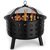 Elite-Flame-Mason-Patio-Garden-Light-Fire-Bowl-Outdoor-Fire-Pit-with-All-Season-Cover