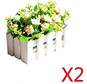 New 2 fences 2 potted flower artificial flowers for wedding decoration fake silk - Fabulous flower stand ideas to display your plants look more beautiful ...