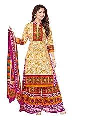 Aarvi Women's Cotton Unstiched Dress Material Multicolor -DM23