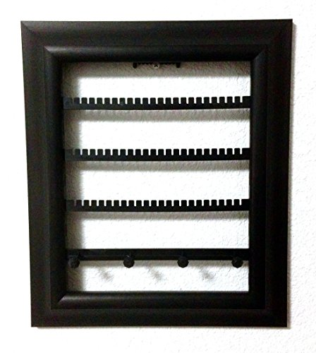 The Jewelry Frame. Decorative Jewelry Organizer in a Picture Frame! Artfully Display Earrings, Bracelets, & Necklaces on Your Wall! (8