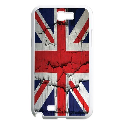 Generic Mobile Phone Cases Cover For Samsung Galaxy Note 2 Case N7100 Diy Customized Uk British Flag Union Jack Design Plastic Cell Phones Protective Shell Personalized Pattern Skin