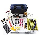 PDR Tool Kit Furuix 56pcs PDR Slide Hammer Dent Lifter Dent Removal Kits Paintless Dent Repair Hail Removal Tool Automotive Tool PDR Tools DIY Car Dent Repair Kit