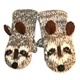 Agan Traders Wool Animal Mitten Raccoon Child Size