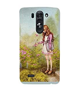 Printvisa Girl In A Garden Back Case Cover for LG G3 Beat::LG G3 Vigor::LG G3s (Dual)