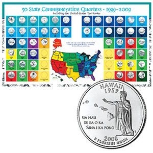 50 Statehood Quarter Collection With Album 1999-2009