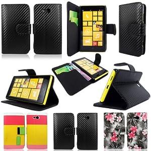 Cellularvilla (Tm) Case for Nokia Lumia 820 Carbon Fiber Black PU