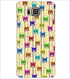 PrintDhaba Cartoon Pattern D-4050 Back Case Cover for SAMSUNG GALAXY ALPHA (Multi-Coloured)