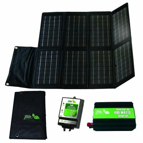 Nature Power 55704 Folding Off-Grid Solar Panel Kit 80-watt