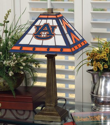 NCAA College Mission Style Stained Glass Table Lamp School: Auburn at Amazon.com