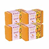Khadi Mauri Lemon Soap Pack of 4 Ayurvedic Handcrafted Herbal Natural Soaps