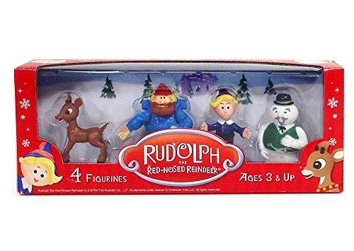 Rudolph 4 Pack Figurine Set - 1