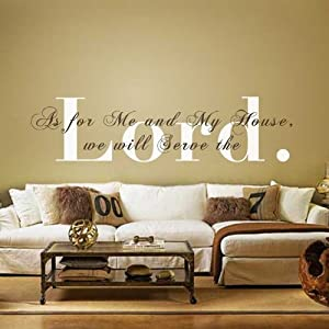 Monogram wall decal vinyl wall quote bible verse decal for Christian mural