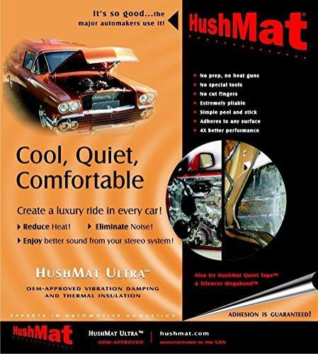 HushMat 10150 Ultra Black Foil Starter Kit with Damping Pad - 4 Piece